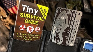 How to SURVIVE Almost Anything - Tiny Survival Guide  + Credit Card Survival Kit