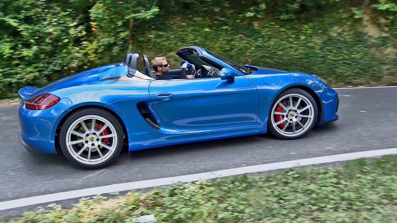 2015 Porsche Boxster Spyder Driving Good Exhaust Sound