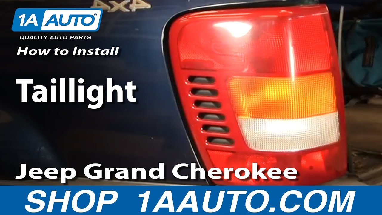 How To Install Replace Taillight Jeep Grand Cherokee 9904 1AAuto  YouTube