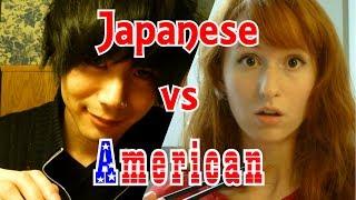 Japanese vs American 日本人 vs アメリカ人 (Japanese Games) 日本語字幕有