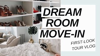NEW ROOM FIRST-LOOK! Moving Vlog 1