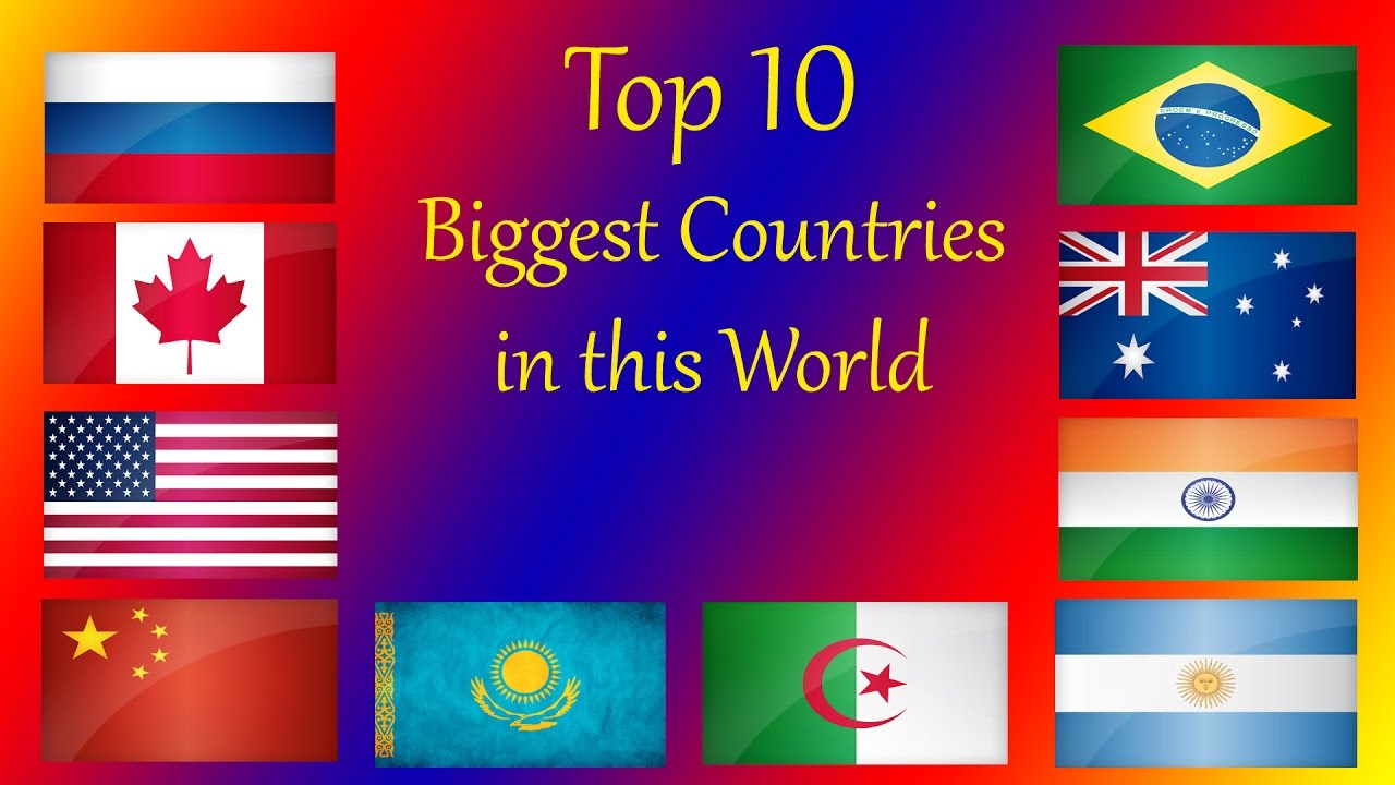 Top Biggest Country In The World HD YouTube - What is the biggest country in the world
