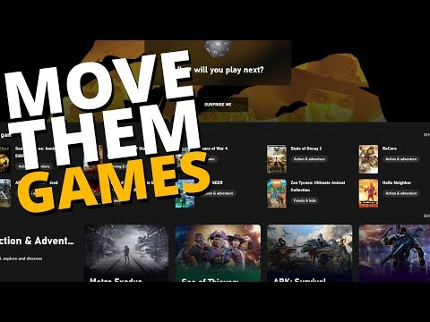How To Manage & Move Your Windows Store & Xbox Game Pass Game Installations! (change Default Drive)