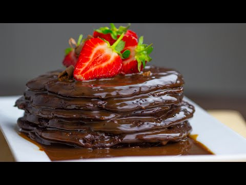Chocolate Pancakes || The BEST Chocolate Pancakes Recipe