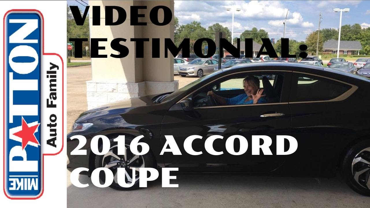 video testimonial 2016 honda accord for mrs zachry from. Black Bedroom Furniture Sets. Home Design Ideas