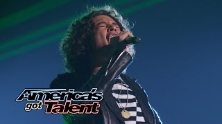 "Miguel Dakota: Rocker Performs ""Seven Nation Army"" Cover - America's Got Talent 2014 Finale"