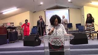 Pastor Gayle Pierce-Younger at Greater Emmanuel Grace