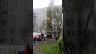Пожар в общаге 55 20 лет ВЛКСМ 11 05 2018