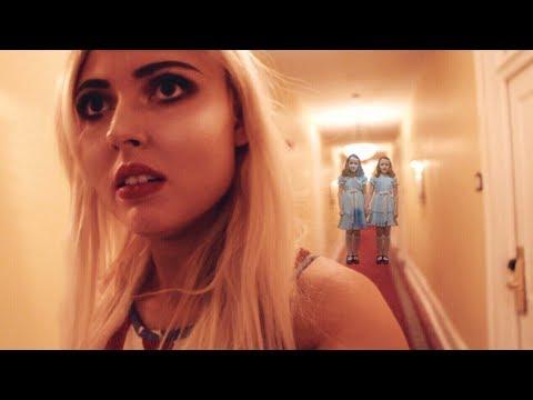 Ghost Children in Scary Hallway..  Spirit Box in Haunted Hotel