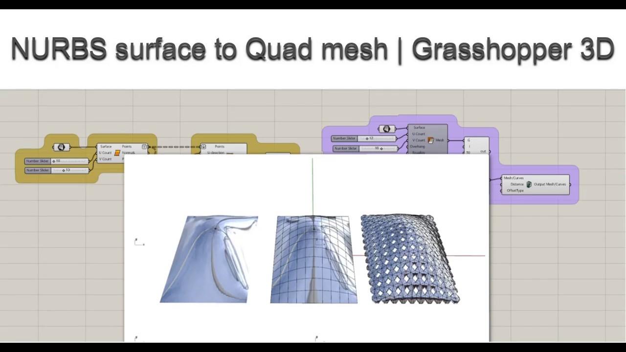 NURBS surface to Quad mesh | Grasshopper 3D