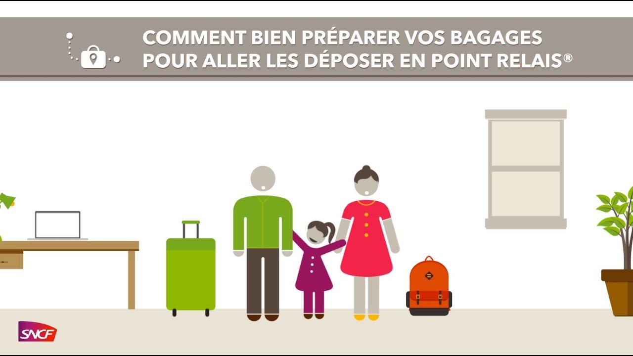 Offre bagage en point relais SNCF en promotion