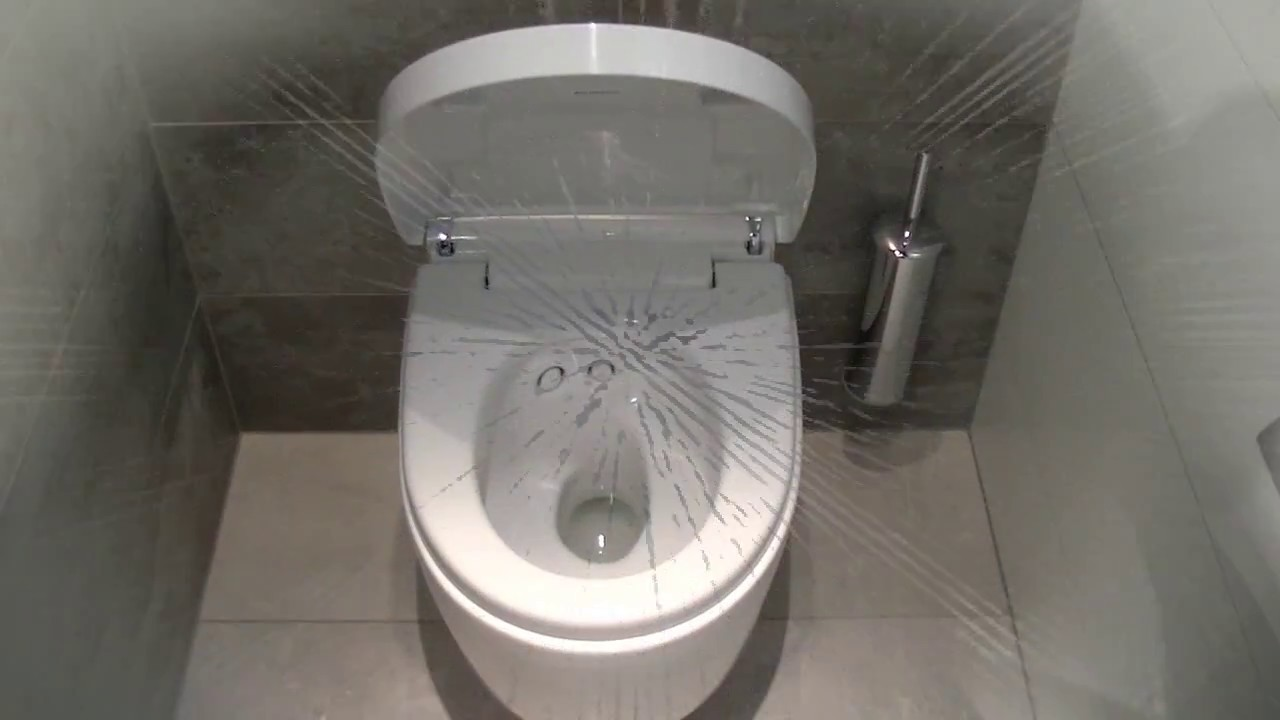 r novation et m tamorphose d 39 un wc en un toilette high tech youtube. Black Bedroom Furniture Sets. Home Design Ideas
