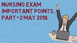NCLEX AND AIIMS Nursing exam important points part 2 by  NURSES EXAM and NURSING SUPPORT NEWS