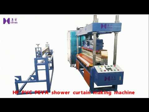 High frequency PVC PEVA shower curtain making machine / hf wash shower curtain liner machines