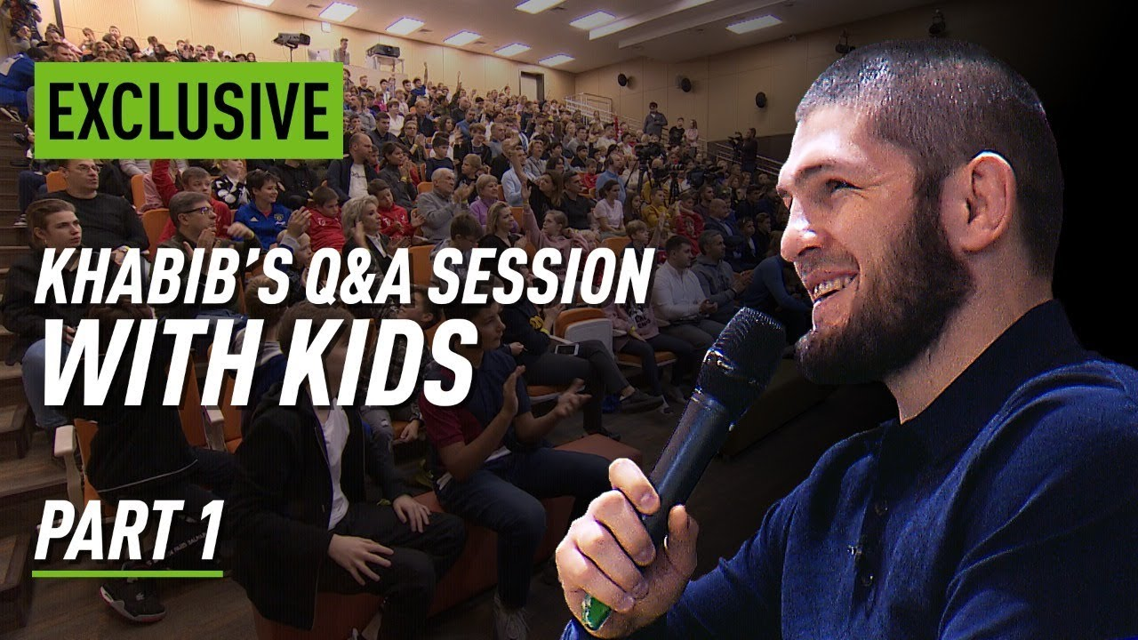 Khabib Talks To Kids About Fighting Life And Cucumbers Youtube