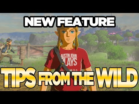 *NEW FEATURE* Tips From the Wild for Zelda Breath of the Wild DLC | Austin John Plays