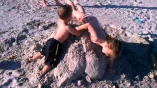 Buzz Sand Castle Creation Destroyed