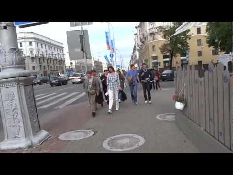 Walking in Minsk, Belarus Минске, Беларусь