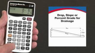 How to do Drop or Slope Calculations | Construction Master Pro