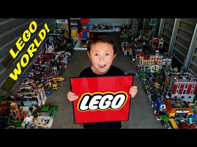 ETHANS LEGO WORLD!!! HUGE LEGO COLLECTION!!