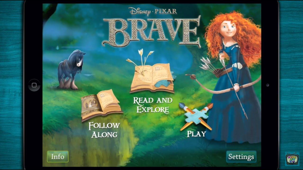 ♥ disney's brave storybook deluxe - meridadisney - iphone/ipad
