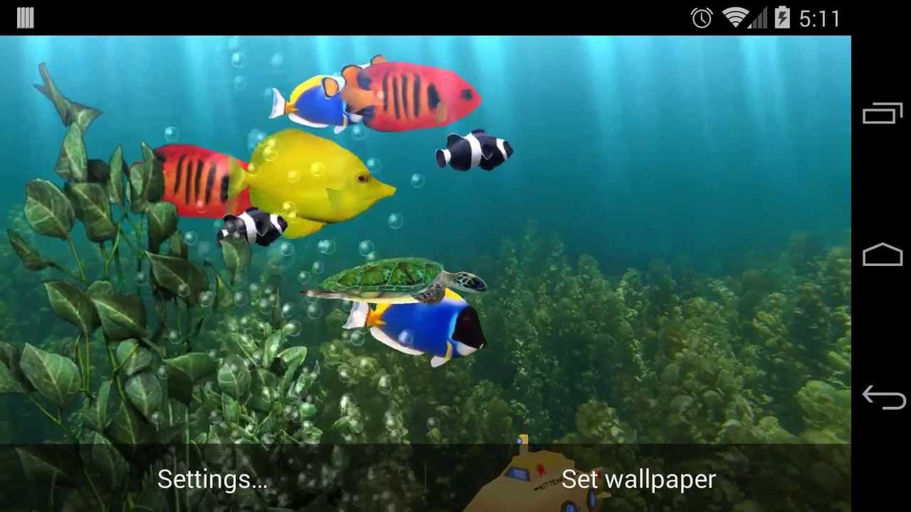 Aquarium Live Wallpaper - YouTube