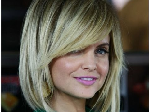 Long Layered Bob Hairstyles With Side Swept Bangs Youtube
