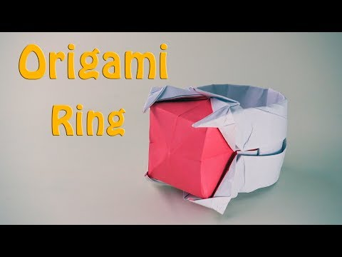 🔴Origami Ring🔴 - How to Make a Paper Ring with gem! (16 Minutes)