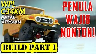 UNBOXING RC OFFROAD 4x4 INDONESIA - BUILD WPL C34KM PART 1