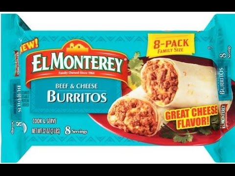 El Monterey Beef And Cheese Burritos YouTube