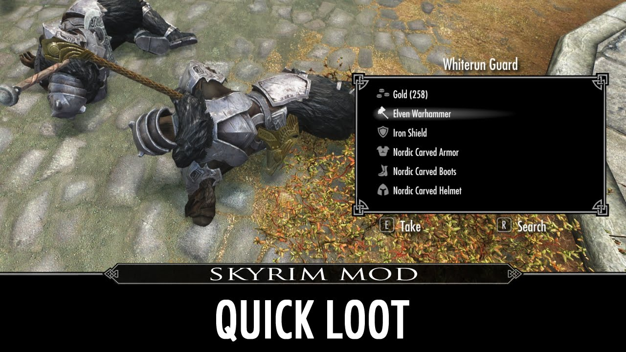 Skyrim Mod Quick Loot Fallout 4 Like UI For Looting