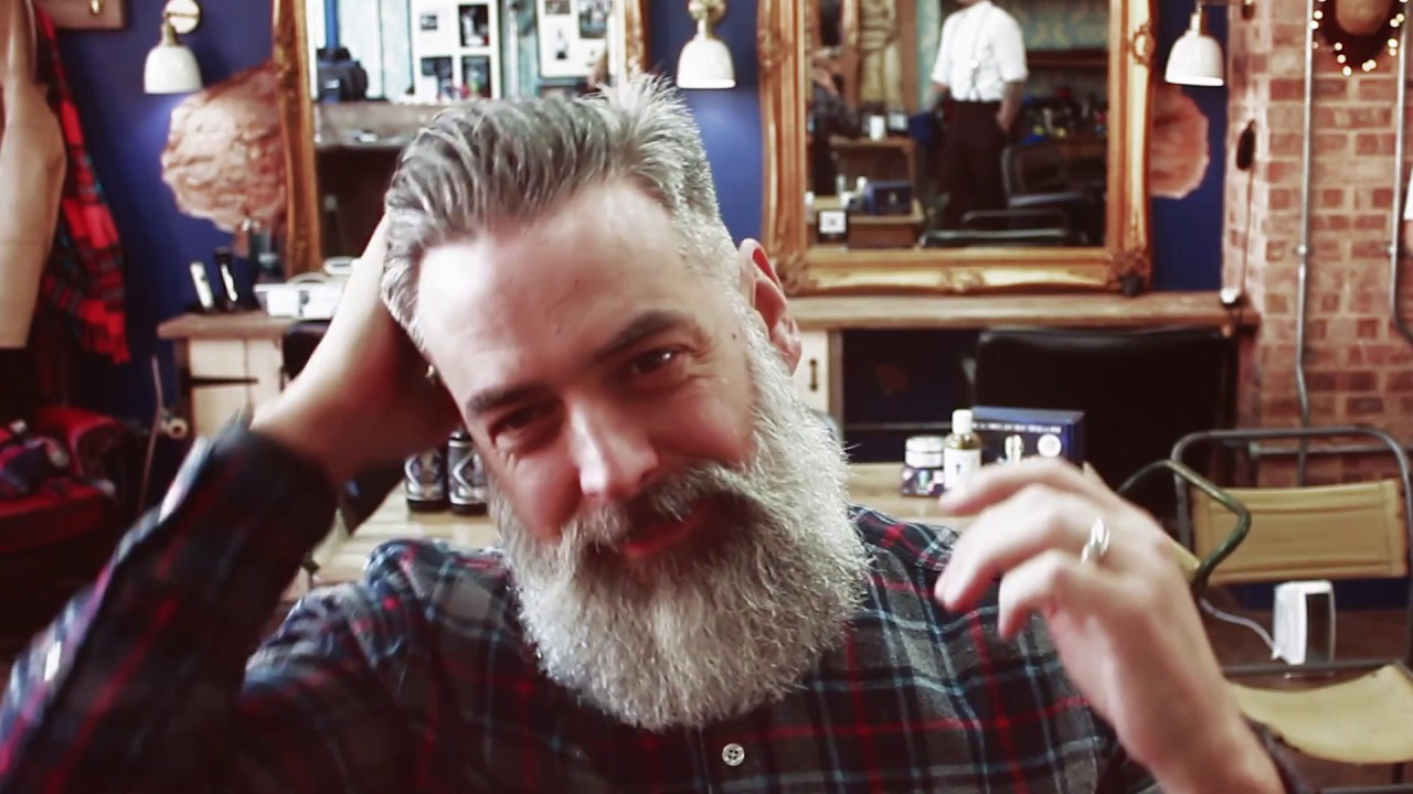 At Home How To Style A Classic Side Parted Pompadour Youtube