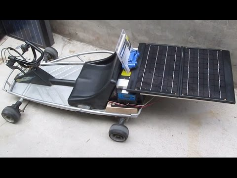DIY: Home Made Solar Powered Razor 24V Go Cart