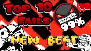 Top 10 Most Stupid Fails Ever In Insane Demons #2 [GEOMETRY DASH]