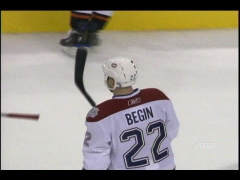 Canadiens de Montreal - Steve Begin but contre Flyers