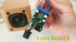 TDA2822 M amplifier board 5W - Les than 1$ !!! (How it sounds)