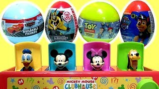 Pop Up Baby Toy Mickey Mouse Clubhouse with 4 Toys Surprise CARS TOY STORY