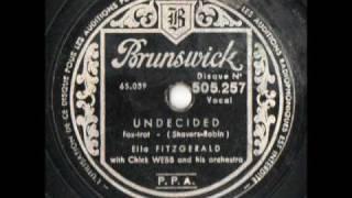 Undecided - Ella Fitzgerald