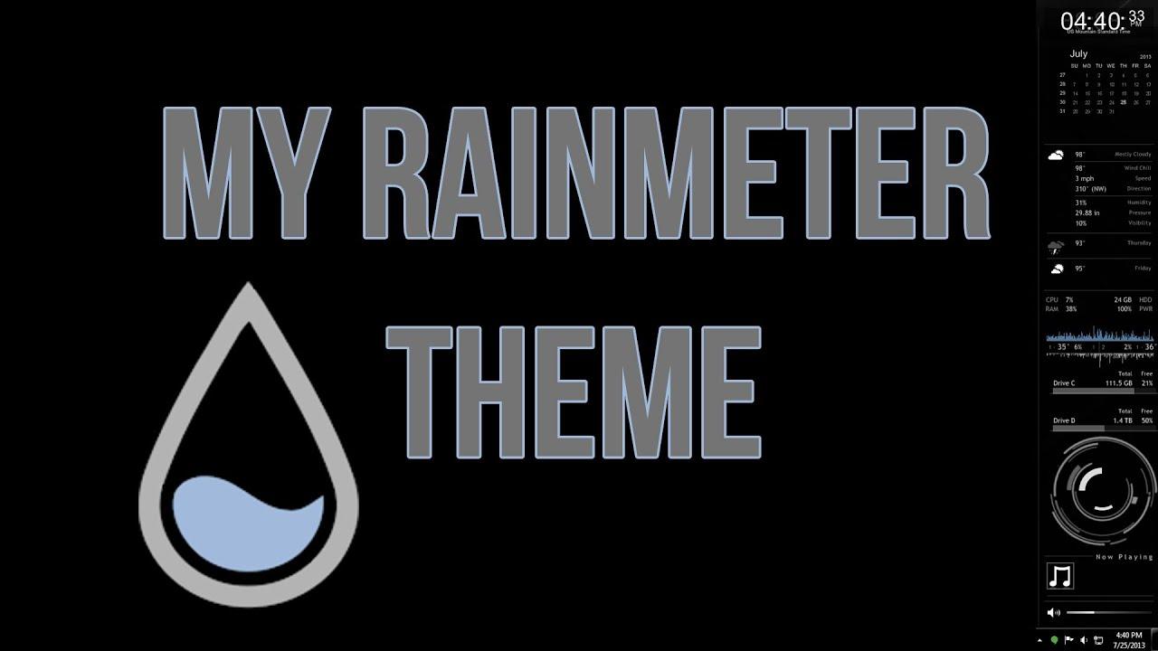 My Rainmeter Theme (How To Install A Skin)