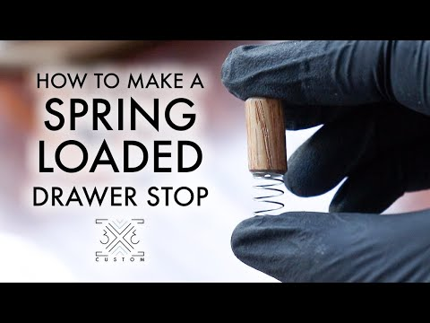 how-to-make-a-spring-loaded-drawer-stop-//-woodworking-how-to