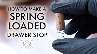 How to Make a Spring Loaded Drawer Stop // Woodworking How To