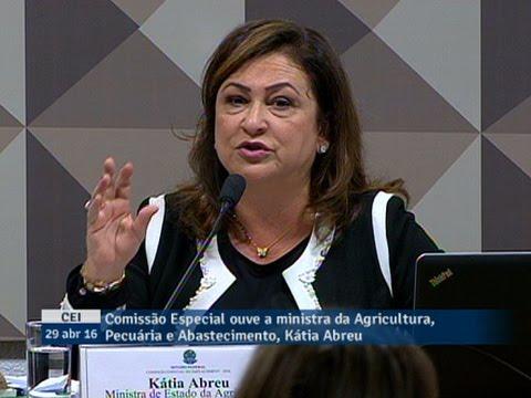 Ministra Kátia Abreu diz que a equalização de taxas de juros não é crédito do banco para a União