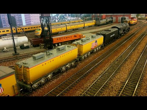 HO Scale: UP Steam with all new ScaleTrains Water Tenders!