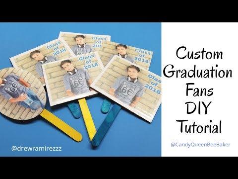 Graduation Fan Tutorial DIY (No Cricut machine Needed)