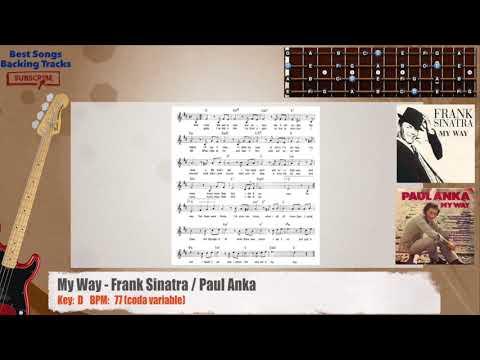 My Way - Frank Sinatra / Paul Anka Bass Backing Track with chords ...