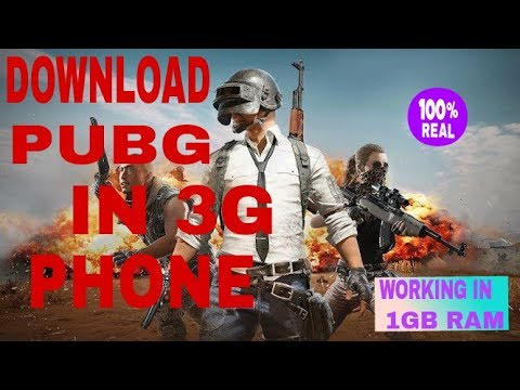 Download pubg in 3G phone or phone having 1GB Ram .