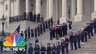 Former President George H.W. Bush's Casket Departs The U.S. Capitol | NBC News