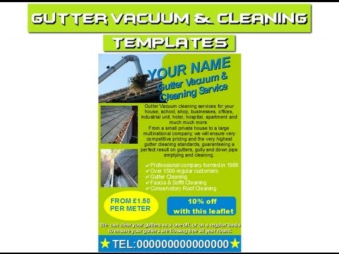 Gutter Cleaning Flyers Leaflets Business Cards Business