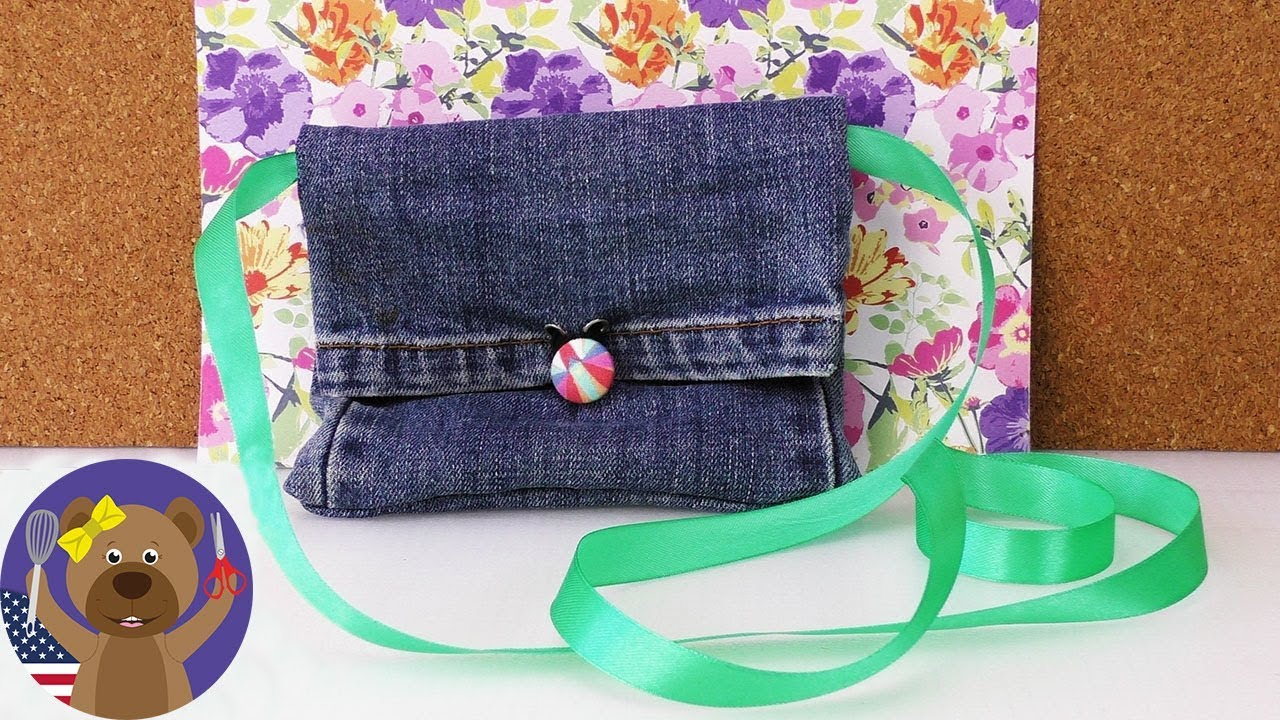 Upcycling: How to make a purse/bag out of some old jeans - DIY ...