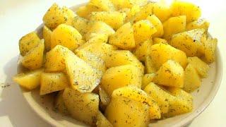 Как приготовить картошку в микроволновке в пакете видео рецепт